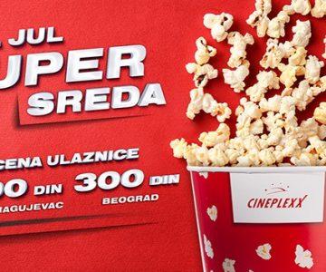 Super sreda 4. jula u bioskopu CINEPLEXX NIŠ