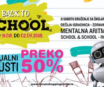 Povratak u školu uz popuste i do preko 50%